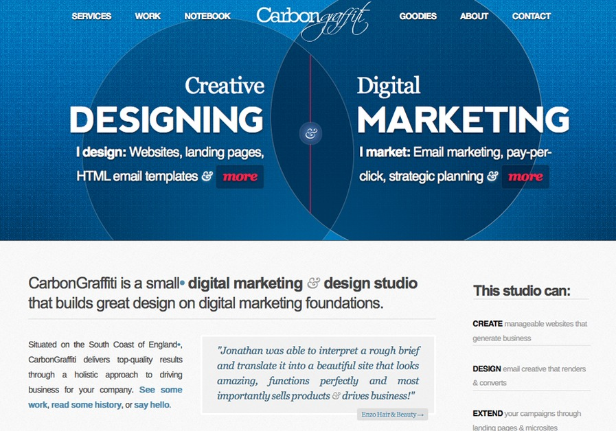 A great web design by CarbonGraffiti Ltd, Brighton, United Kingdom: