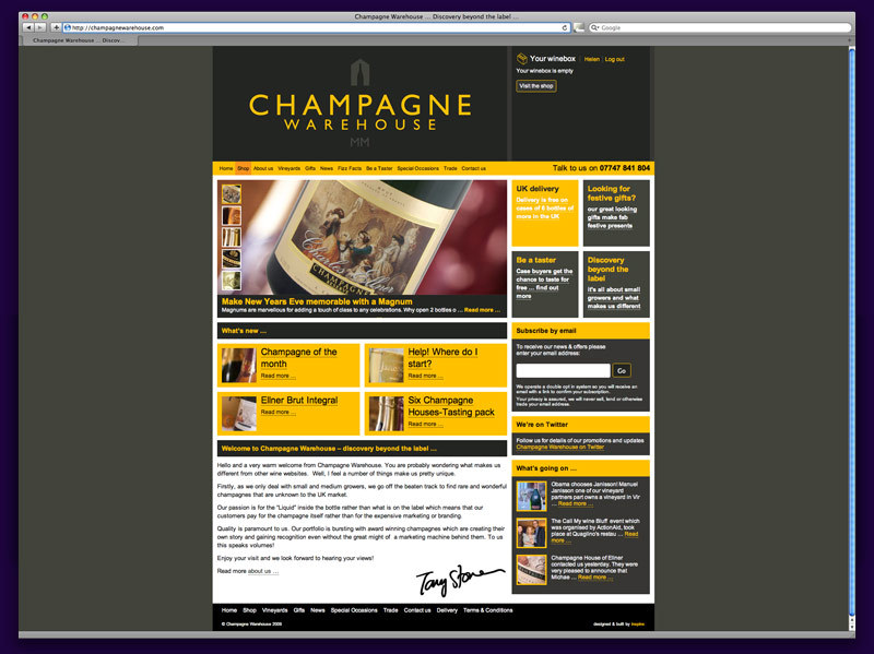 A great web design by inspire:, Bury St Edmunds, United Kingdom: