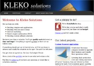 A great web design by Kleko Solutions, Ljubljana, Slovenia: