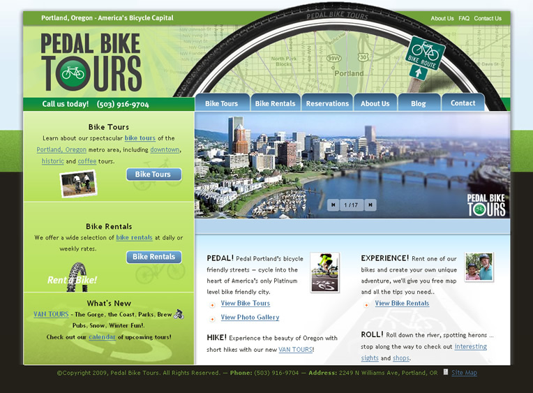 A great web design by Avtec Media Group, Inc., Portland, OR: