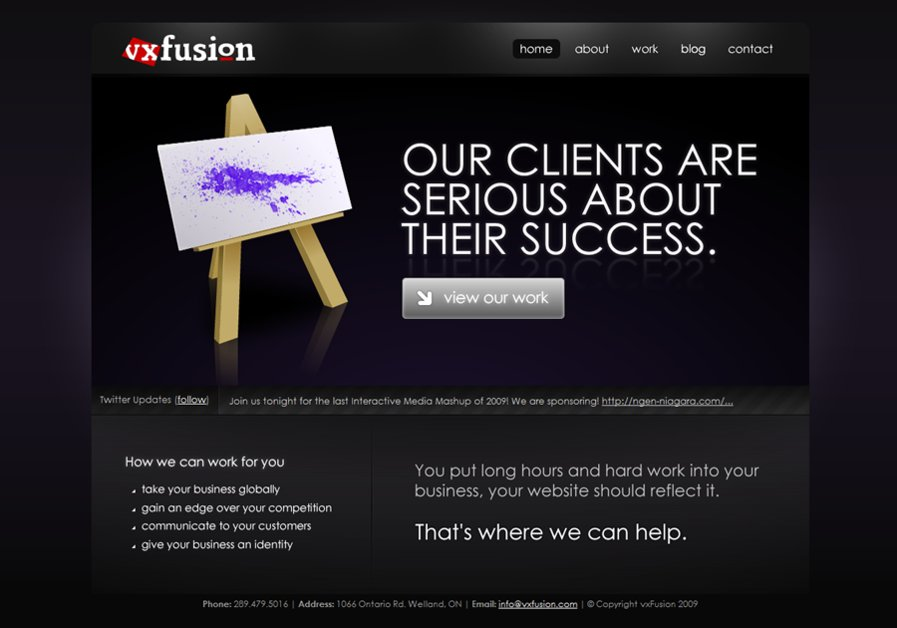 A great web design by vxFusion, Toronto, Canada: