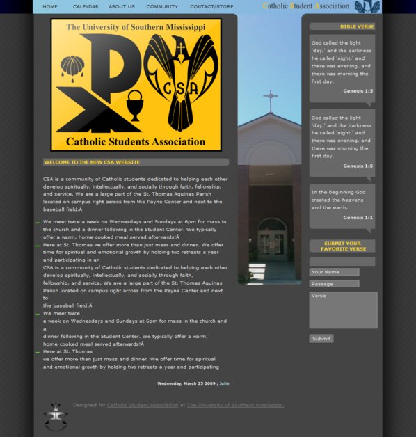 A great web design by LouisWhittington.com, Hattiesburg, MS: