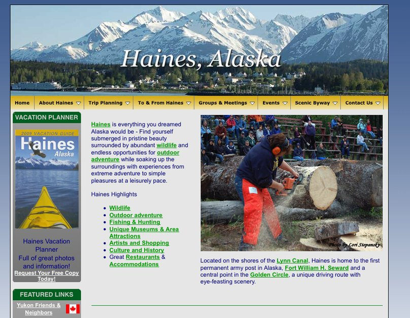 A great web design by Bear Star Web Design, Juneau, AK: