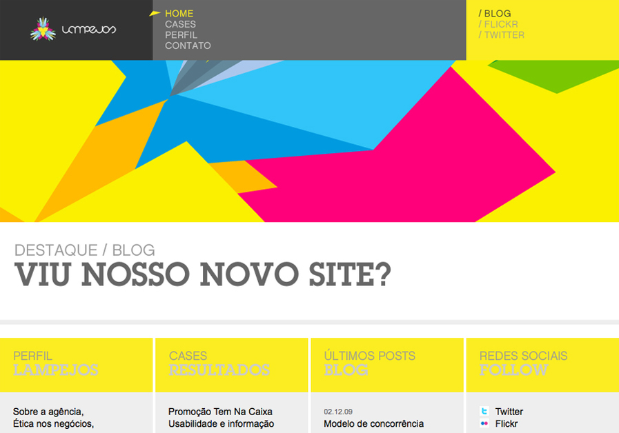 A great web design by Lampejos, Americana, Brazil: