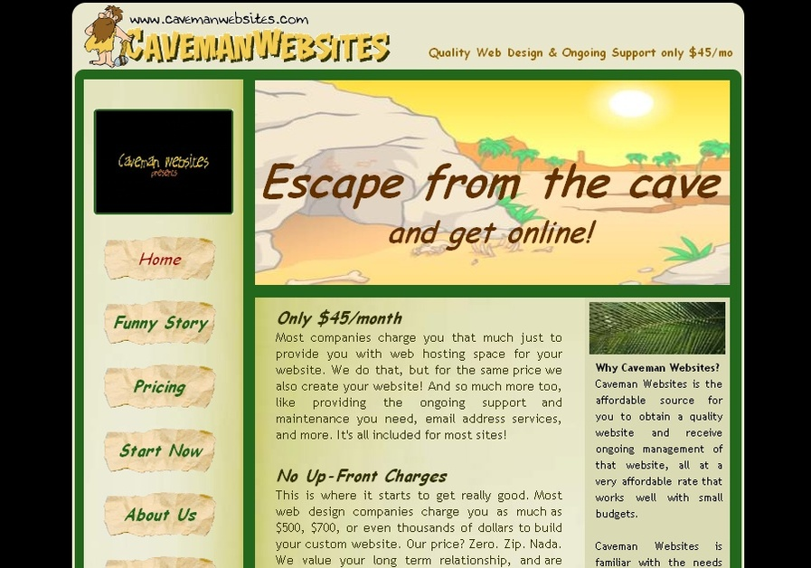 A great web design by Caveman Websites, Oklahoma City, OK: