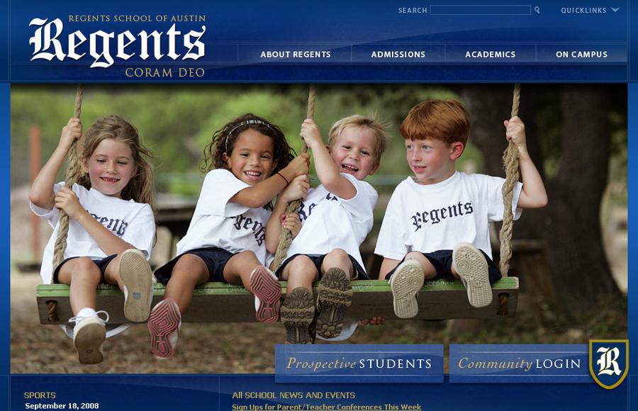 A great web design by finalsite, Boston, MA: