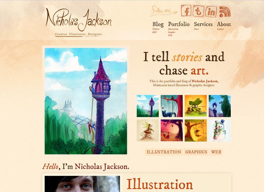 A great web design by Nicholas Jackson: Art & Design, St Cloud, MN:
