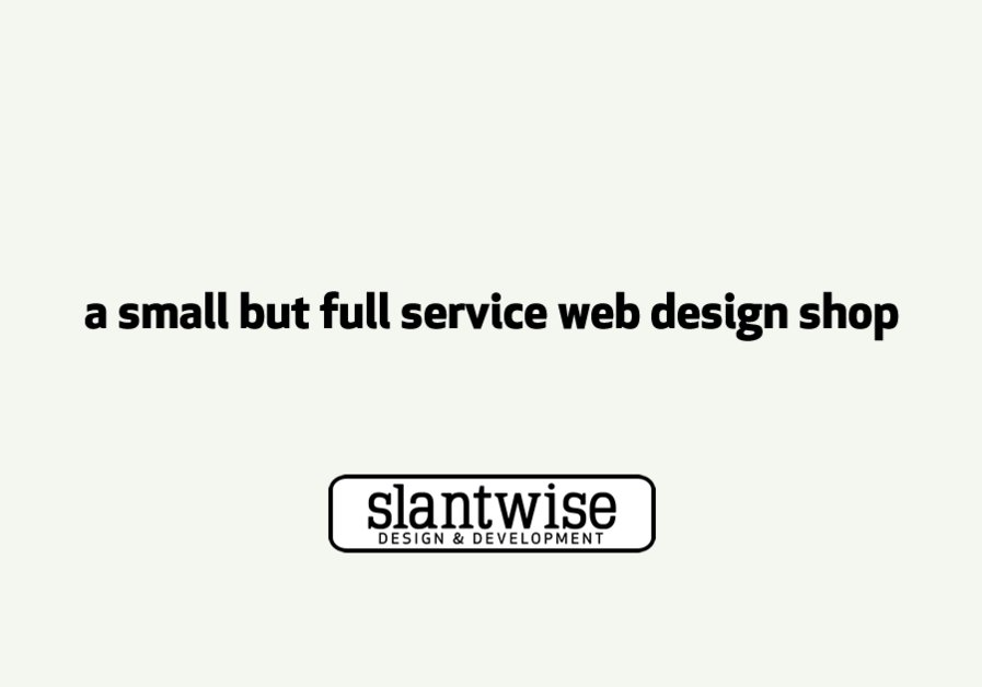 A great web design by Slantwise, Minneapolis, MN: