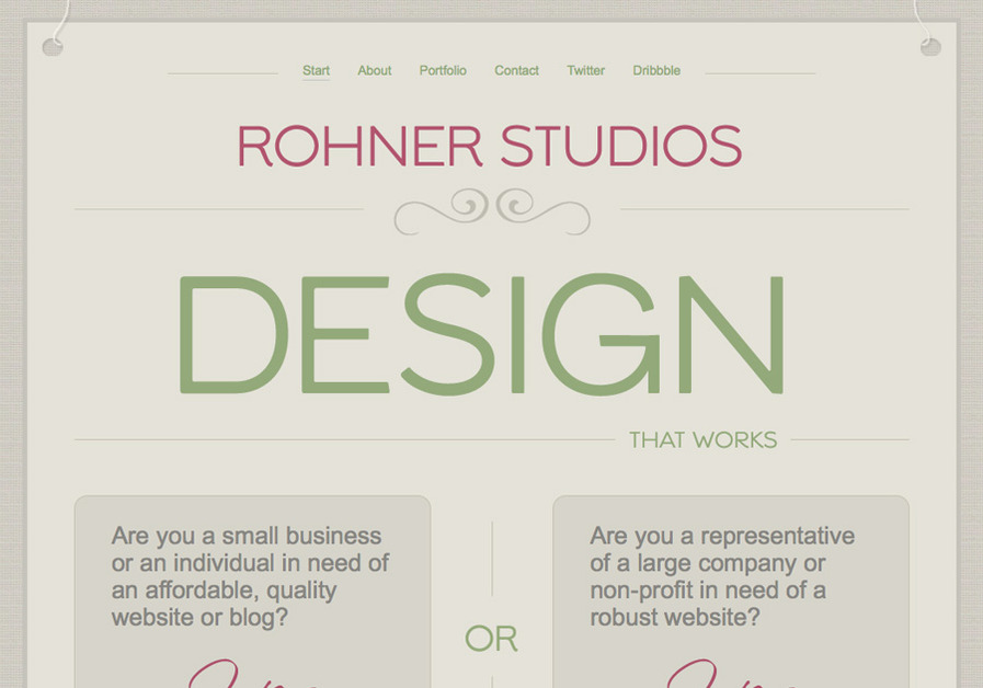 A great web design by Angela Rohner, Dallas, TX: