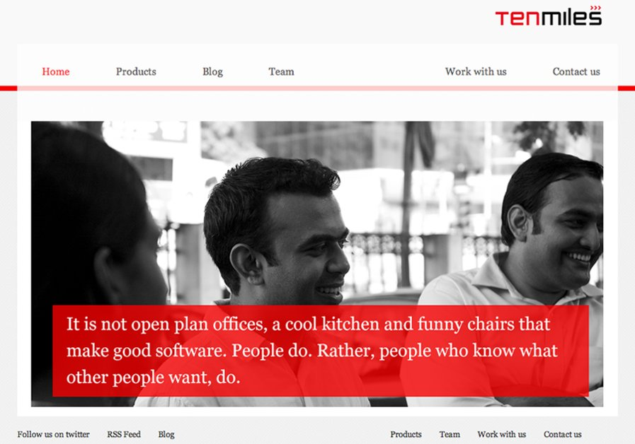 A great web design by Tenmiles Interactive, Chennai, India: