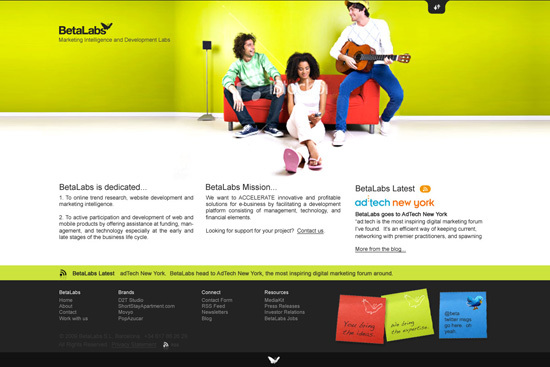 A great web design by BetaLabs, Barcelona, Spain: