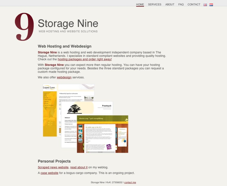A great web design by Storage Nine, The Hague, Netherlands: