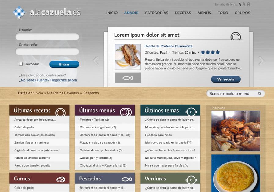 A great web design by Marcos Medina, A Coruna, Spain: