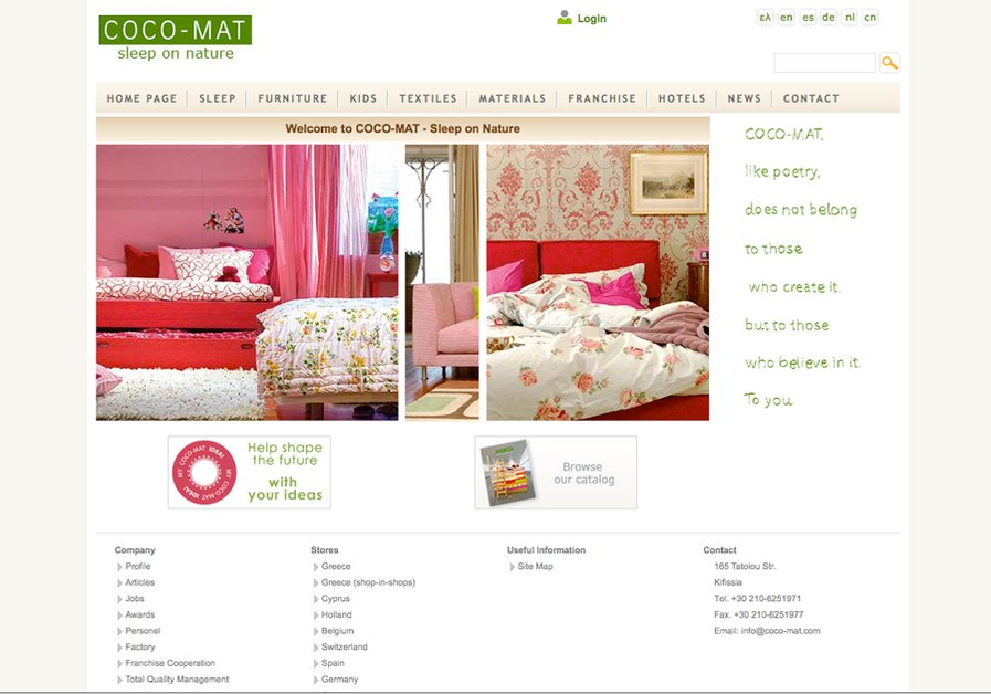 A great web design by Infowonders, Athens, Greece: