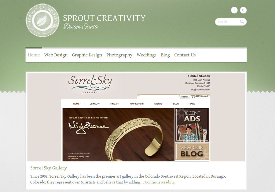 A great web design by Sprout Creativity, Denver, CO: