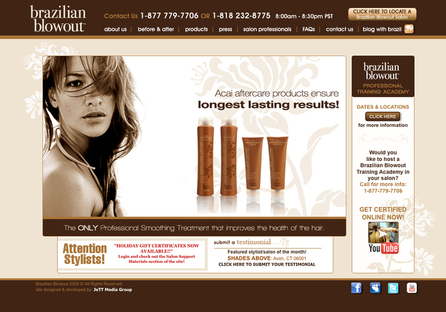 A great web design by JeTT Media Group, Los Angeles, CA: