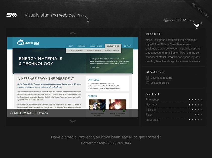 A great web design by Moynihan Design, Boston, MA:
