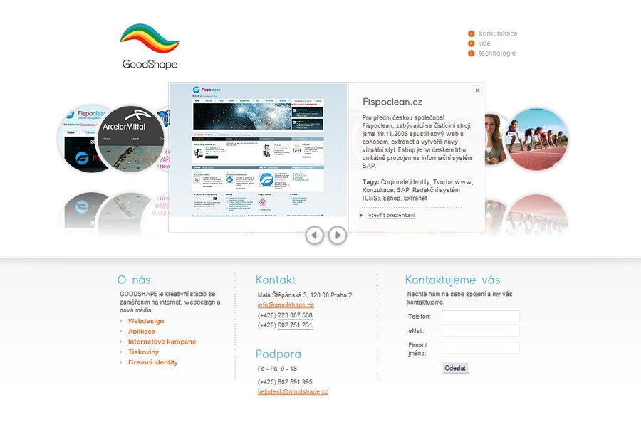 A great web design by GoodShape, Prague, Czech Republic: