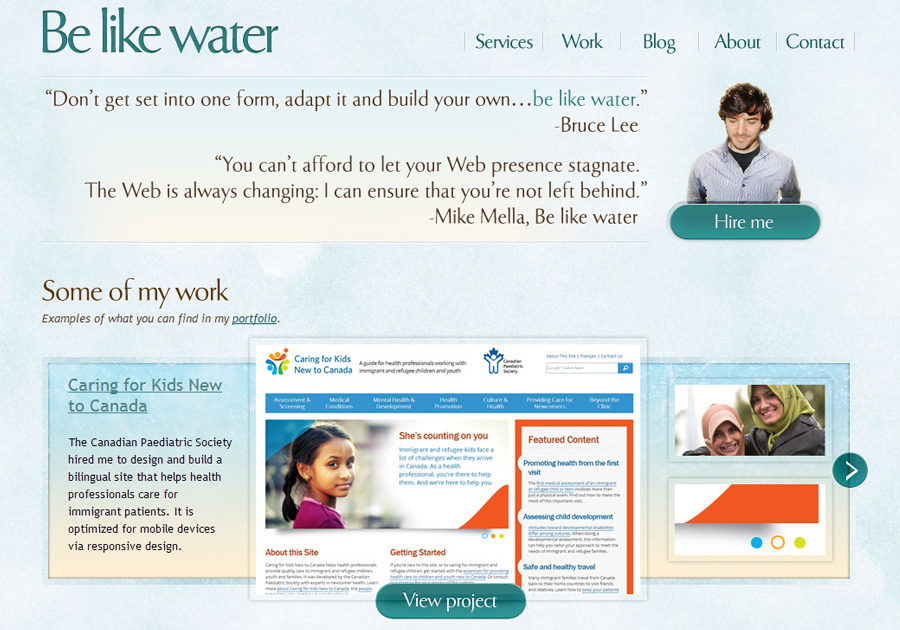 A great web design by Be like water, Toronto, Canada:
