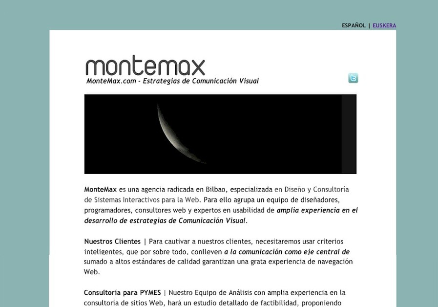 A great web design by MonteMax, Bilbao, Spain: