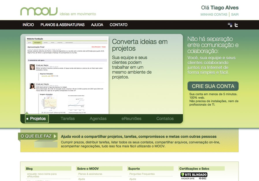 A great web design by Tiago Alves, Goiania, Brazil: