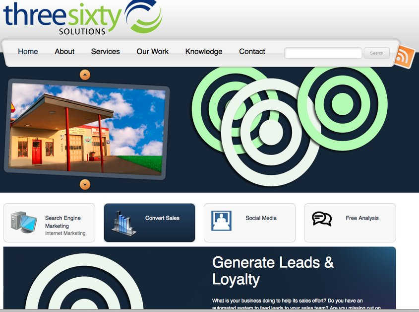 A great web design by three sixty solutions, Austin, TX: