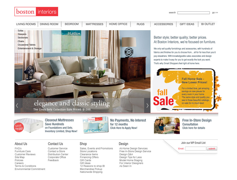 A great web design by Open Skye, Boston, MA: