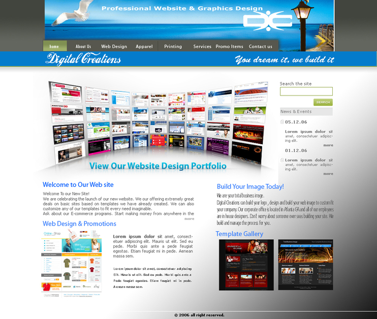 A great web design by Digital Creations, Dallas, TX: