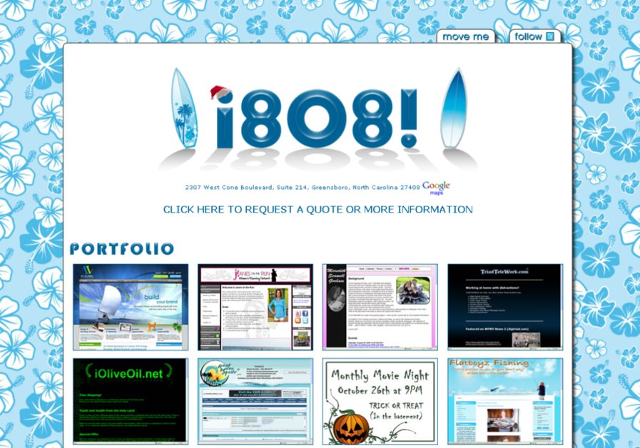 A great web design by i8o8 inc., Greensboro, NC: