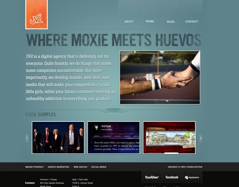A great web design by JV2, Salt Lake City, UT: