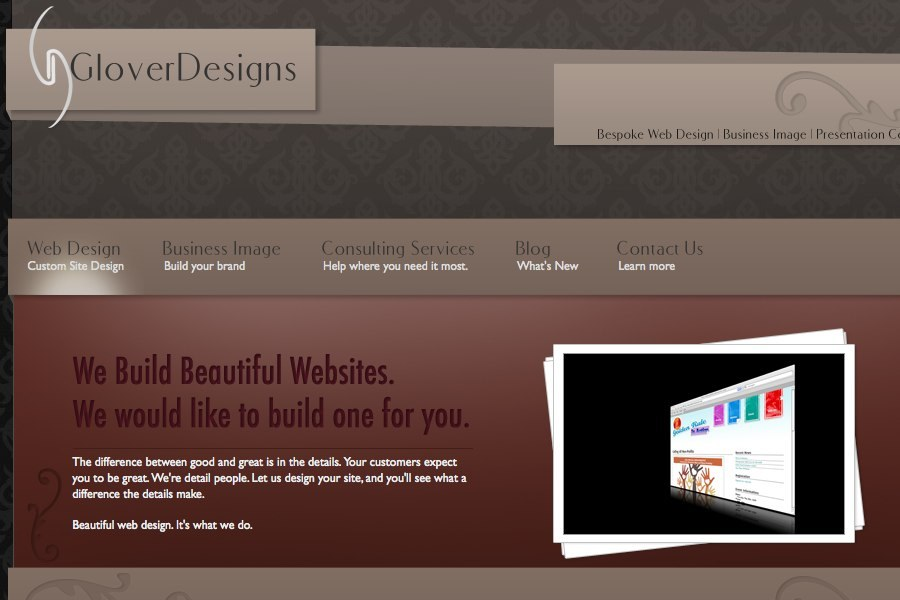 A great web design by GloverDesigns, Phoenix, AZ: