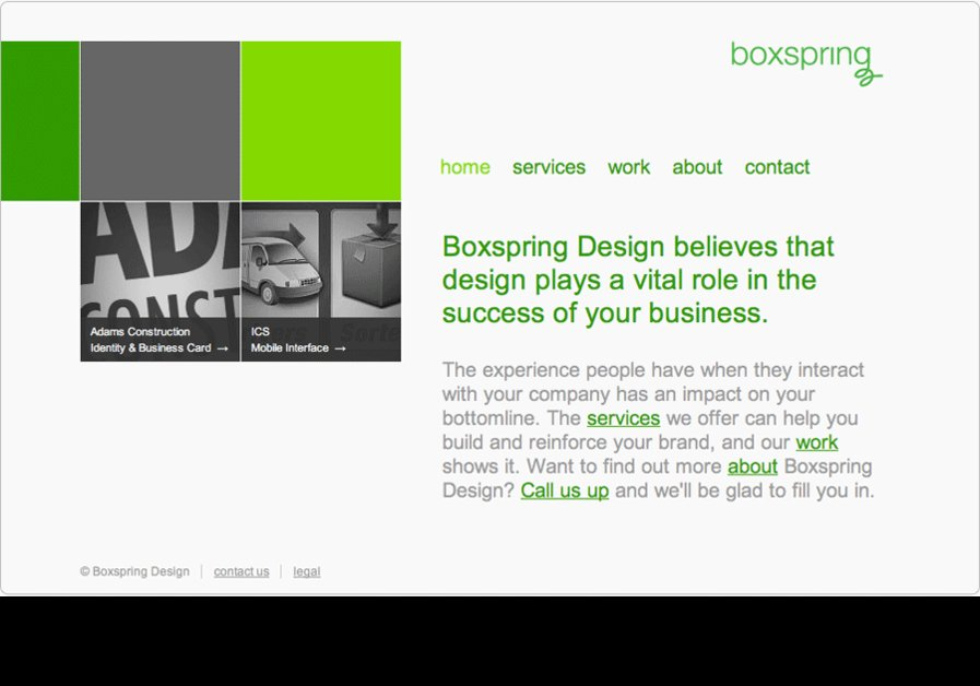 A great web design by Boxspring Design, Kansas City, KS: