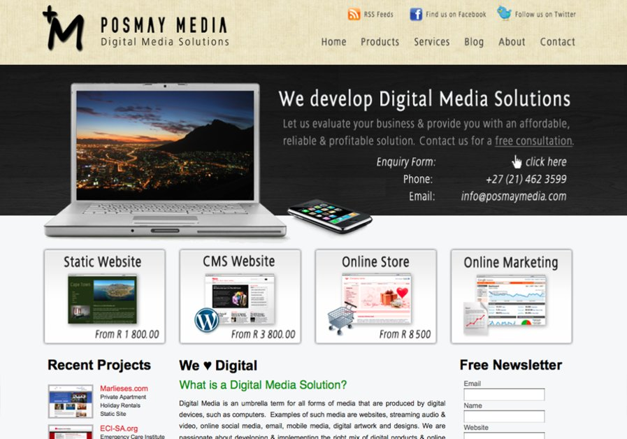 A great web design by Posmay Media, Cape Town, South Africa: