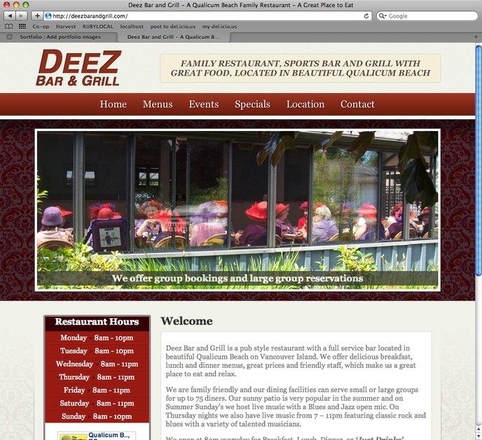 A great web design by Graphika Studioz, Victoria, Canada: