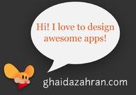 A great web design by Ghaida Zahran, Jeddah, Saudi Arabia: