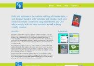 A great web design by Graeme Pirie, Leeds, United Kingdom: