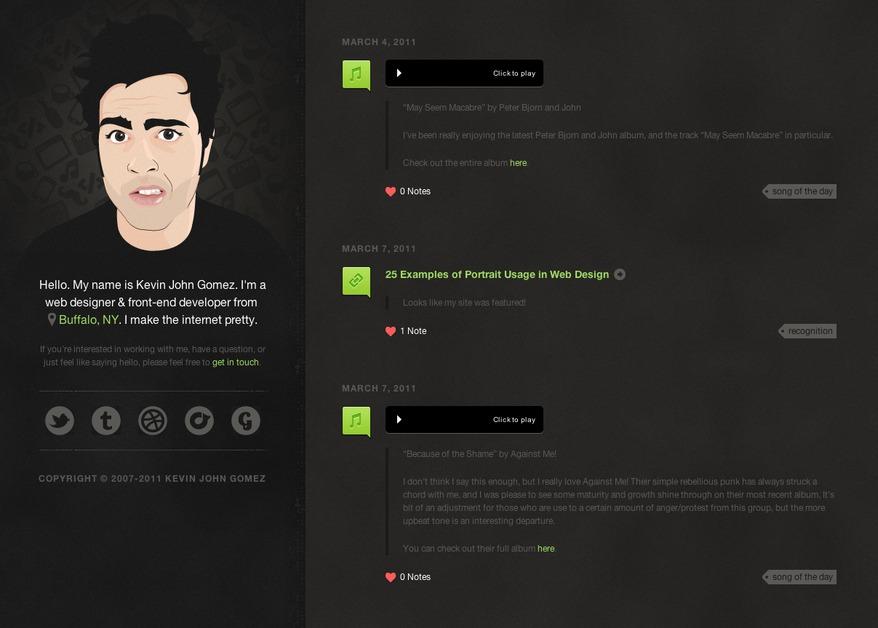 A great web design by Kevin John Gomez, Buffalo, NY: