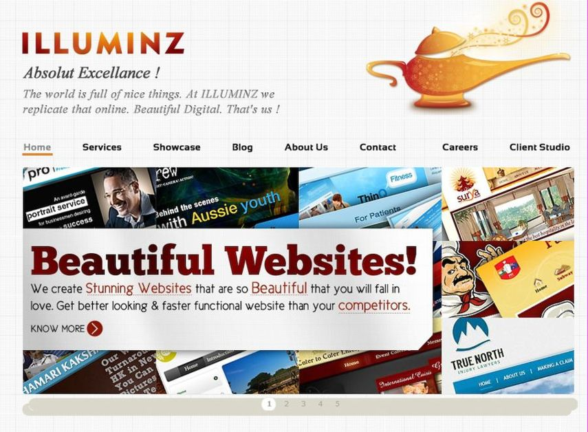 A great web design by ILLUMINZ, New York, NY: