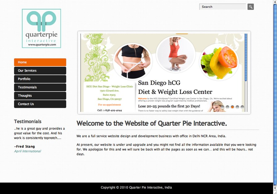 A great web design by Quarter Pie Interactive, New Delhi, India: