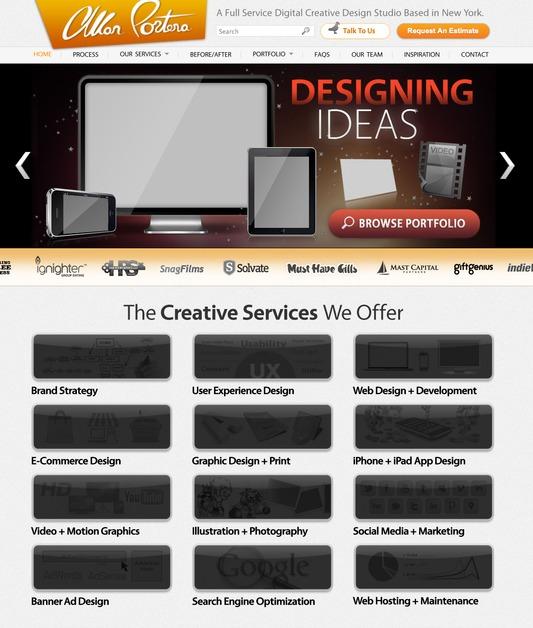 A great web design by AllanPortera.com, New York, NY: