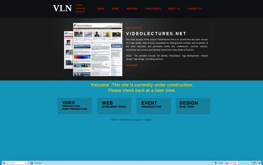 A great web design by VLNmedia, Ljubljana, Slovenia: