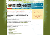 A great web design by maramade productions, Philadelphia, PA: