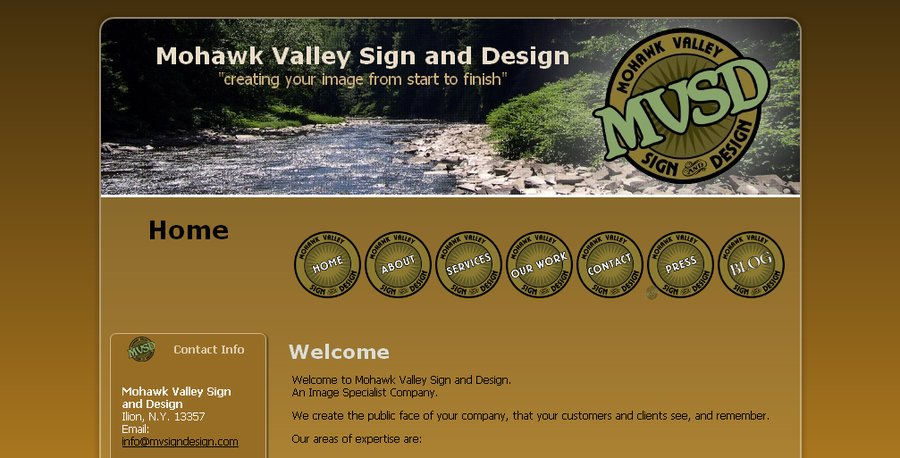A great web design by MohawkValley Sign and Design, New York, NY: