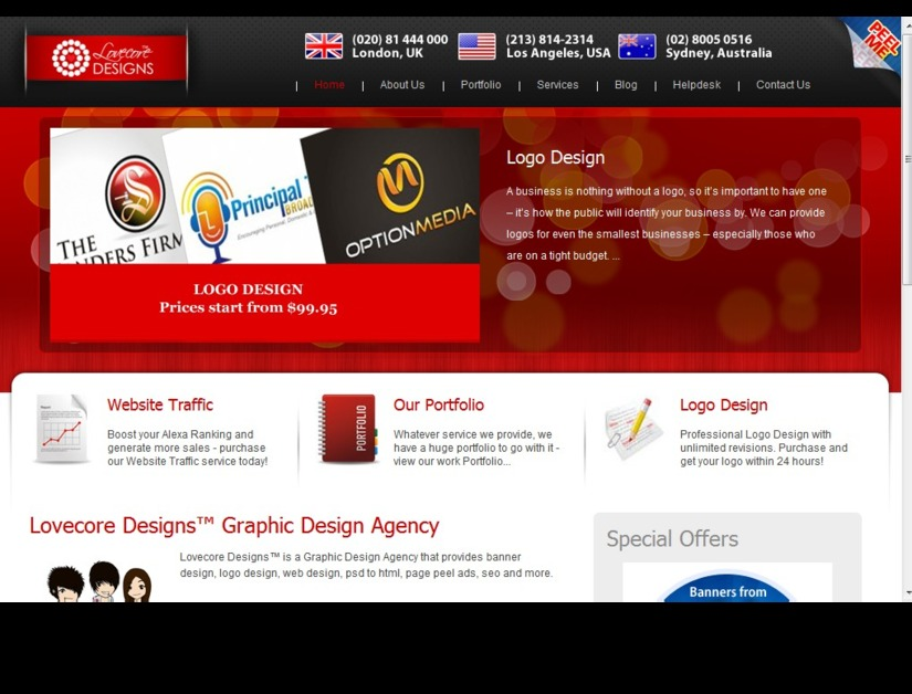 A great web design by Lovecore Designs™, Los Angeles, CA: