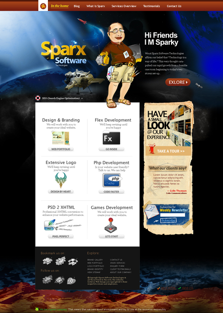 A great web design by Sparx Software Technologies, New Delhi, India: