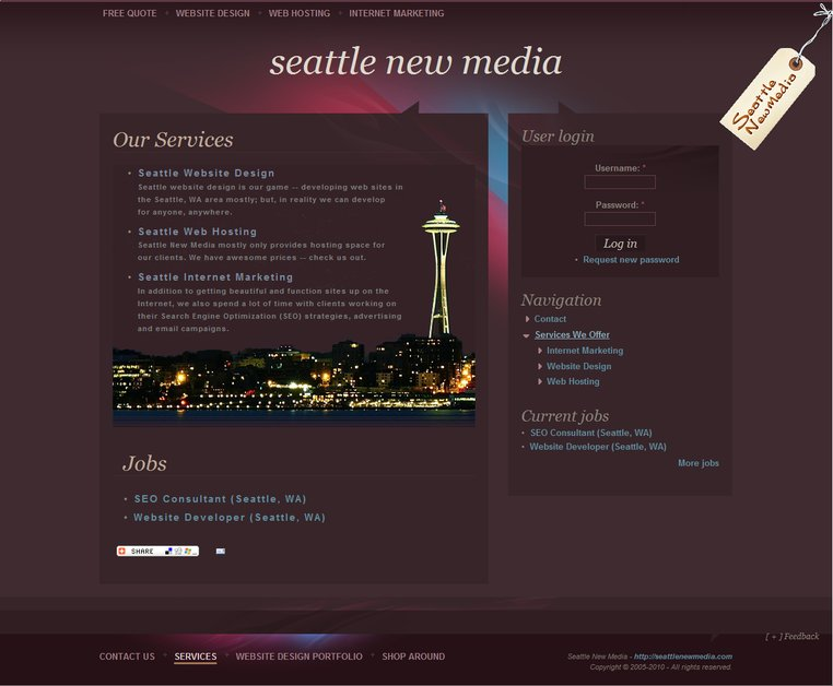Sortfolio Seattle New Media Website Design Seattle