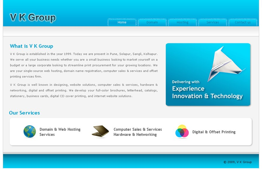 A great web design by V K Group, Pune, India:
