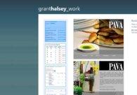 A great web design by Grant Halsey, Boston, MA: