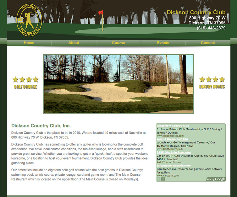 A great web design by scott barrett design, Nashville, TN: