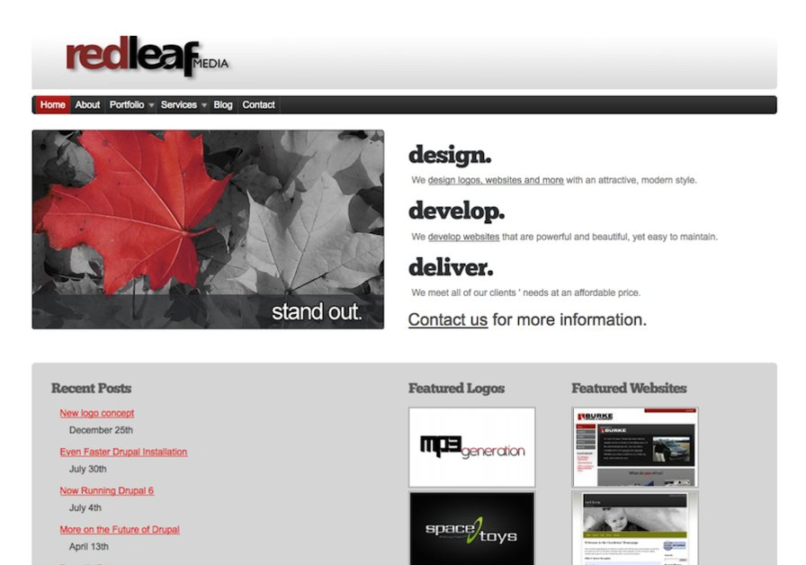 A great web design by Red Leaf Media, Chicago, IL: